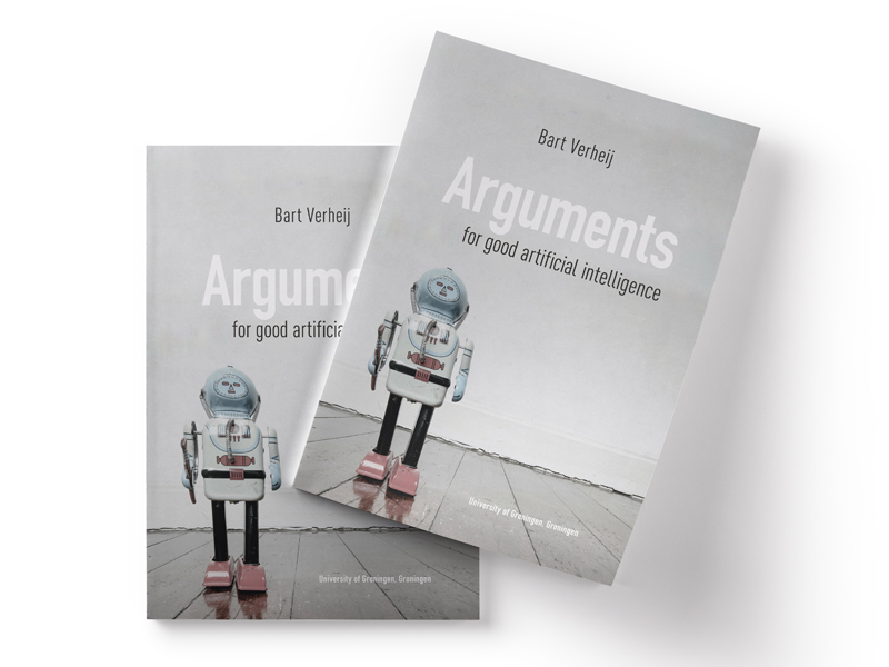 Boek omslag ontwerp voor Arguments for good artificial intelligence