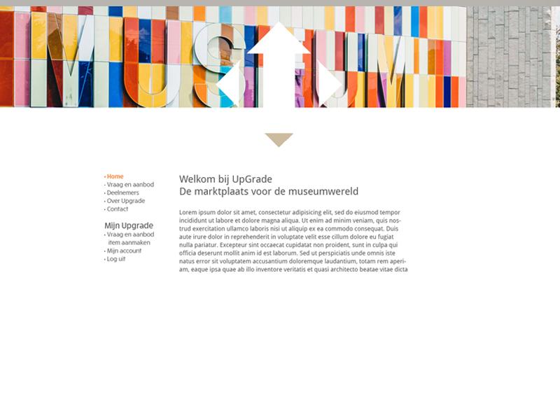 webdesign Up-Grade, hergebruik museummaterialen